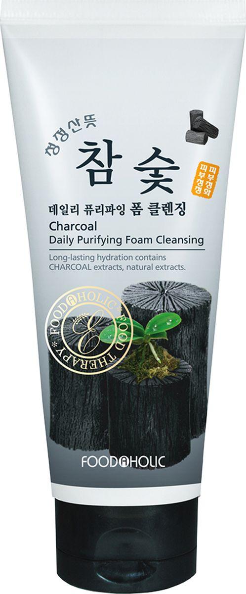 FoodaHolic, пенка для умывания с Черным Древесным Углем, 180 млFH620573Пенка для умывания смывает макияж, загрязнения и глубоко очищает поры. Активированный уголь действует как природный магнит, притягивающий примеси, токсины, загрязнения. Средства на основе угля хорошо вычищают даже глубокие загрязнения из пор, а также снижают жирность кожи. Это позволяет применять их как профилактику угрей, акне и прочих несовершенств эпидермиса.