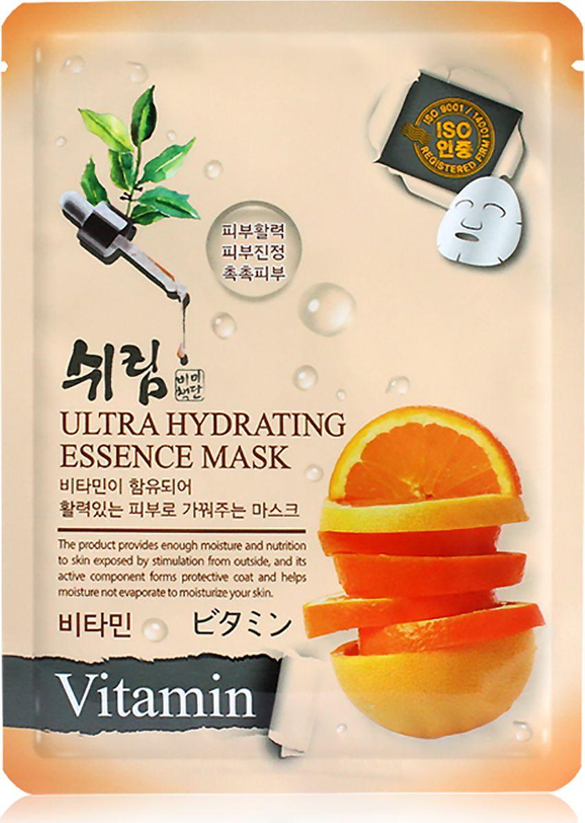Shelim, Увлажняющая тканевая маска с витаминами, 80 млZ4004Тканевая маска пропитана концентрированной эссенцией, отличающейся высоким содержанием активных ингредиентов и обогащенной специальным комплексом витаминов. Тканевая маска с витаминами содержит лучшие натуральные компоненты, необходимые для питания и увлажнения кожи. В состав входит витаминно-минеральный комплекс для красоты и здоровья кожи. В эссенции маски содержатся витамины С, Е, В6, В12, которые помогают насытить кожу влагой, кислородом, минералами и витаминами. Витаминный коктейль позволяет коже выглядеть моложе, стать более упругой и свежей. Витамин С осветляет пигментацию и выравнивает тон кожи, защищает от свободных радикалов, а витамин Е питает кожу. Аллантоин в составе средства замедляет старение, а экстракт гамамелиса успокаивает чувствительную кожу. Бетаин, гиалуроновая кислота, масло дерева ши и жожоба превосходно увлажняют и питают эпидермис.