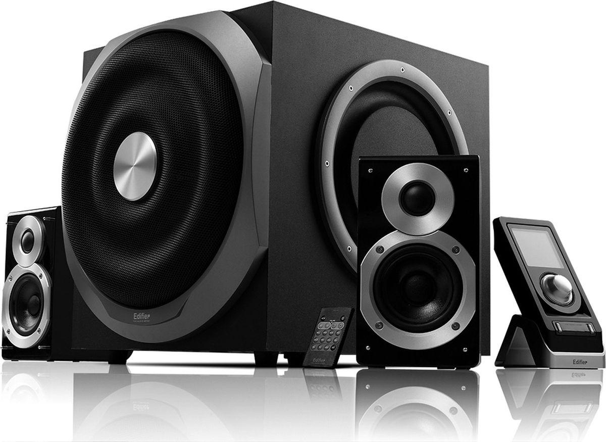 Edifier S730, Black акустическая системаS730 BlackКолонки Edifier S730 Black Сателлиты по 75 ВтСабвуфер 150 Вт
