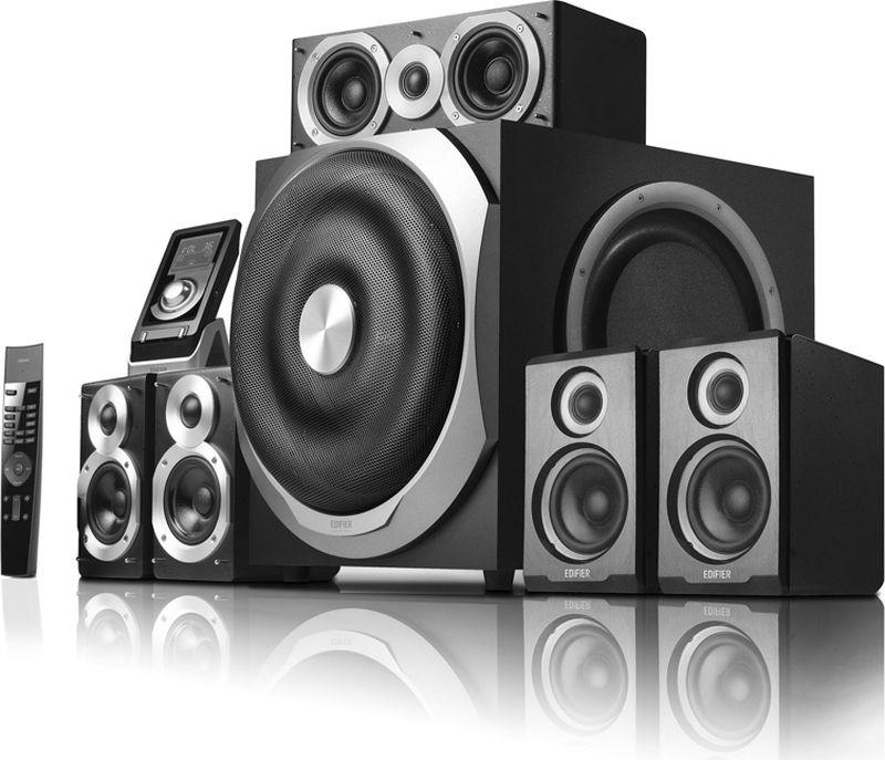 Edifier S760D, Black акустическая системаS760D BlackКолонки Edifier S760D Black Сателлиты по 60 ВтСабвуфер 240 Вт
