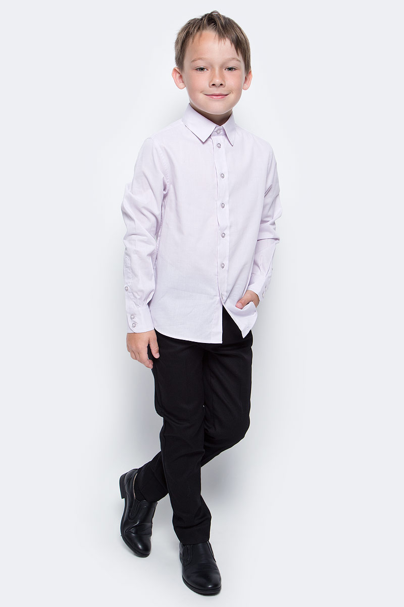 Рубашка для мальчика Button Blue, цвет: бледно-фиолетовый. 217BBBS23013000. Размер 152, 12 лет217BBBS23013000Рубашка для мальчика - основа повседневного школьного образа! Школьные рубашки от Button Blue - это качество и комфорт, отличный внешний вид, удобство в уходе, высокая износостойкость. Рубашка с длинными рукавами и отложным воротничком застегивается на пуговицы. Готовясь к школьному сезону, вам стоит купить рубашки в трех-четырех цветах, чтобы разнообразить будни ученика.