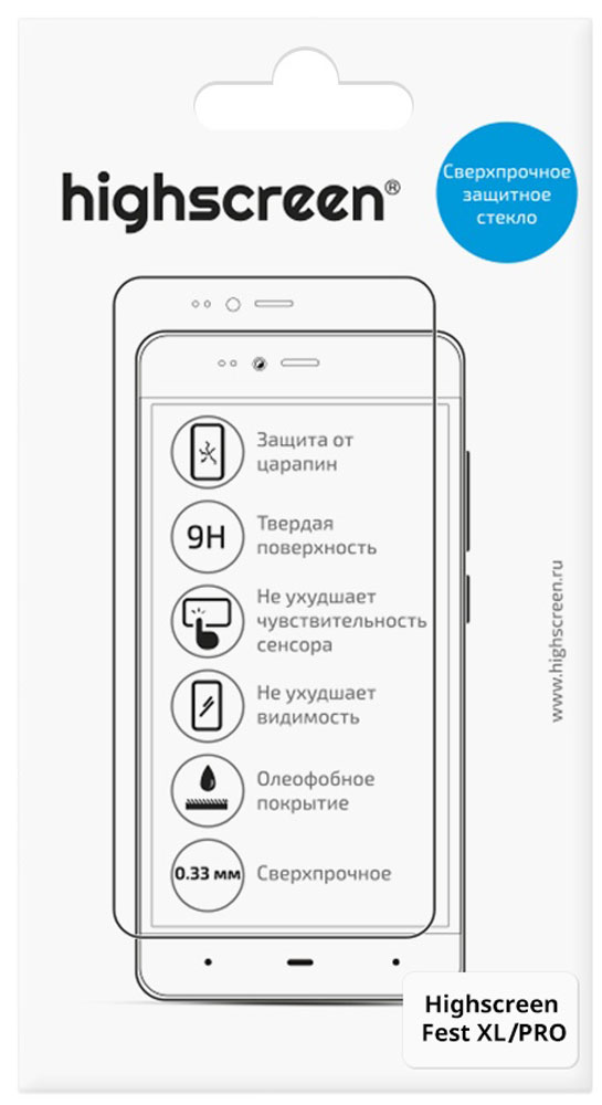Highscreen защитное стекло для Fest XL/XL Pro смартфон highscreen fest xl pro black