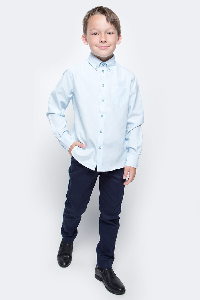 Брюки для мальчика Button Blue, цвет: темно-синий. 217BBBS63021000. Размер 158, 13 лет217BBBS63021000Школьные брюки от Button Blue - основа повседневного гардероба ученика. Брюки для школы практичны, хорошо сидят, не мешают свободе движений, обеспечивая ежедневный комфорт.