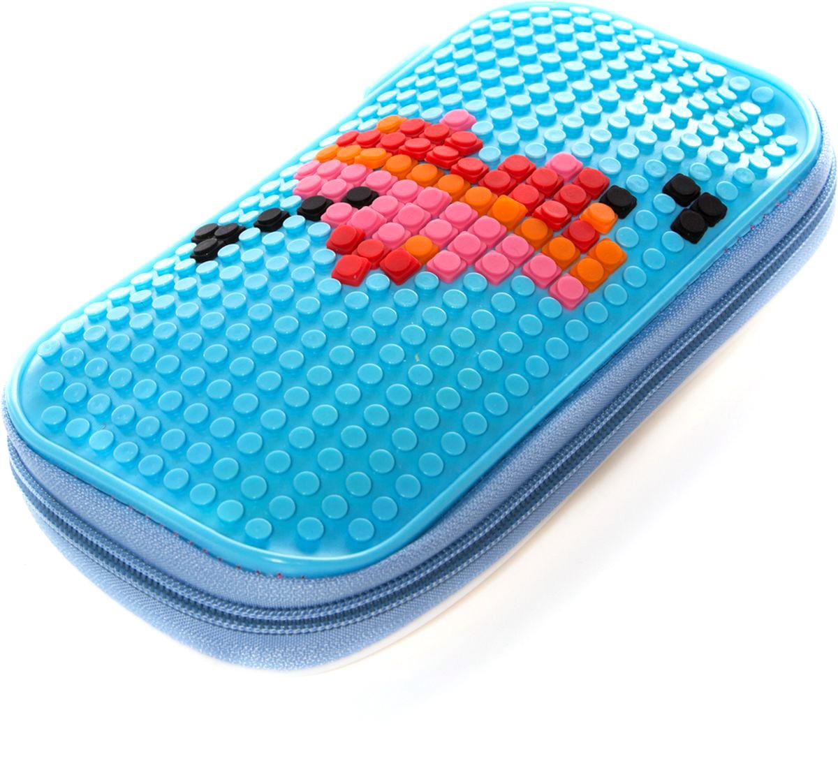 Vittorio Richi Пенал цвет голубойK07P50507Пенал на молнии с набором пикселей в комплекте.