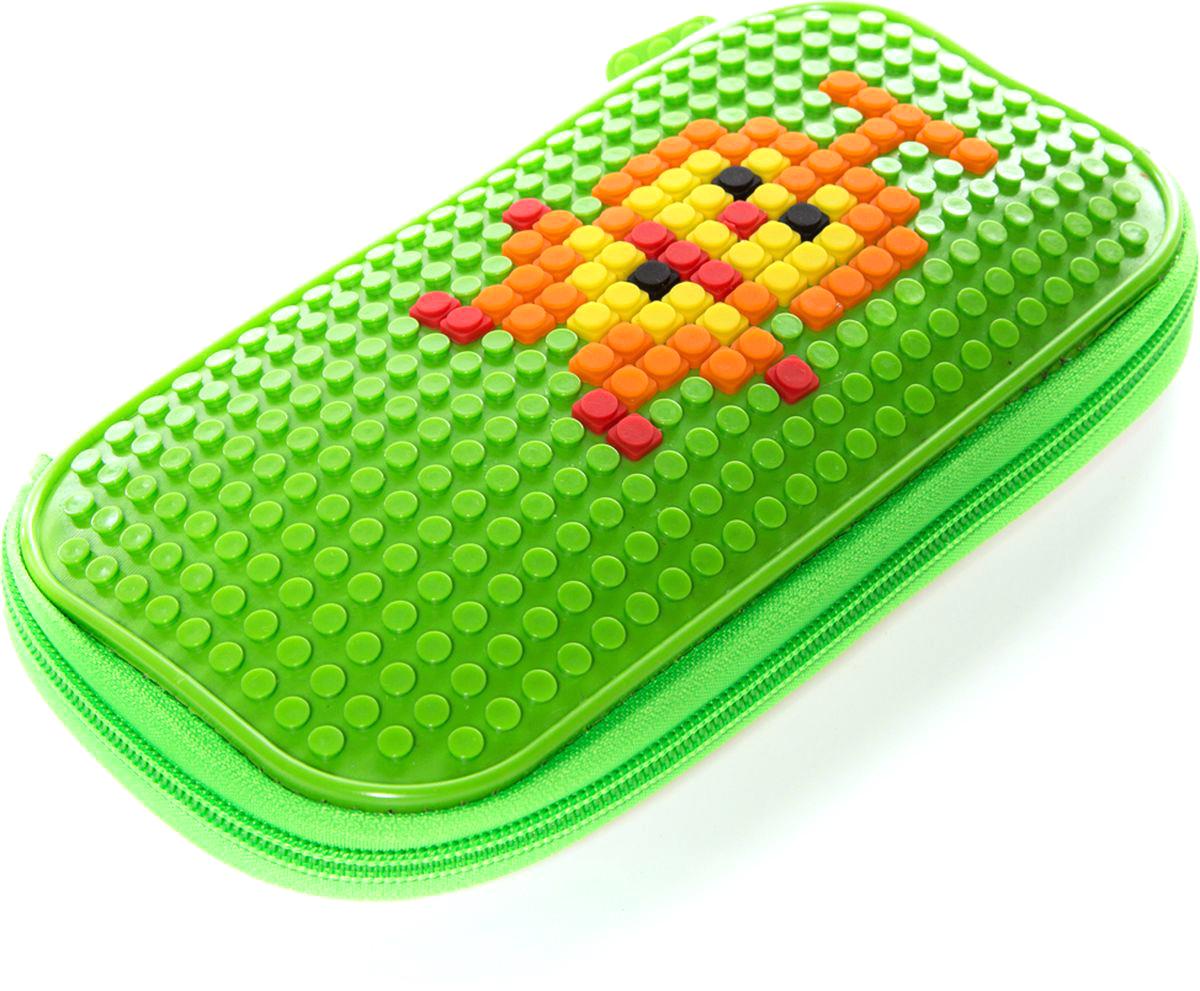 Vittorio Richi Пенал цвет салатовыйK07P50508Пенал на молнии с набором пикселей в комплекте.