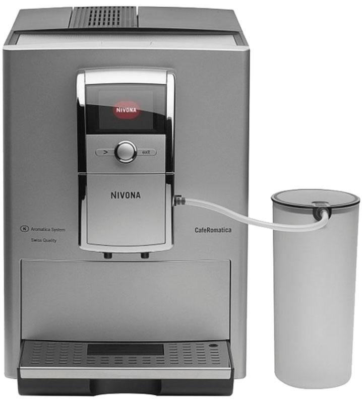 Nivona CafeRomatica NICR 839 кофемашинаТВОС-00690Простая в управлении и обслуживании кофемашина Nivona CafeRomatica NICR 839 придется по вкусу ценителям кофе.Система Aromatica - запатентованное изобретение Nivona.Технология, позвопяющая извлечь из кофейных зерен максимум вкуса и аромата. Кофе после измельчения сжимается в особой динамической варочной камере и под действием давпения отдает наибопьшее количество ароматических масел.Система очистки.Кофемашины Nivona снабжены автоматической системой, периодически удаляющей из емкостей накипь и следы кофе.Капучинатор.Автоматическое устройство для вспенивания молока, превращает его в пену путем перегона через гибкую трубку и насыщения паром.Съемная варочная камера.Необходимый атрибут кофемашины с учетом необходимости содержать узлы и агрегаты в чистоте. Элементарно снимается и промывается проточной водой.Дисплей.Интуитивно понятное меню, полная информация о процессе варки кофе - всё это очень наглядно отображается на дисплее.TFT-цветной текстовый дисплей с возможностью выбора русского языкаВозможность программирования собственных рецептов (10 вариантов)2-цветная подсветка чашекАвтоматическая очистка капучинатораСистема автовкл./автовыкл.Энергосберегающий режимИндикация замены фильтраПрограммирование степени жесткости водыТихий режим работы кофемолкиСтатистикаРегулируемый по высоте дозатор (7-14 см)Крепость кофе: 6-12 г на чашку (5 вариантов)Температура кофе: 3 уровня