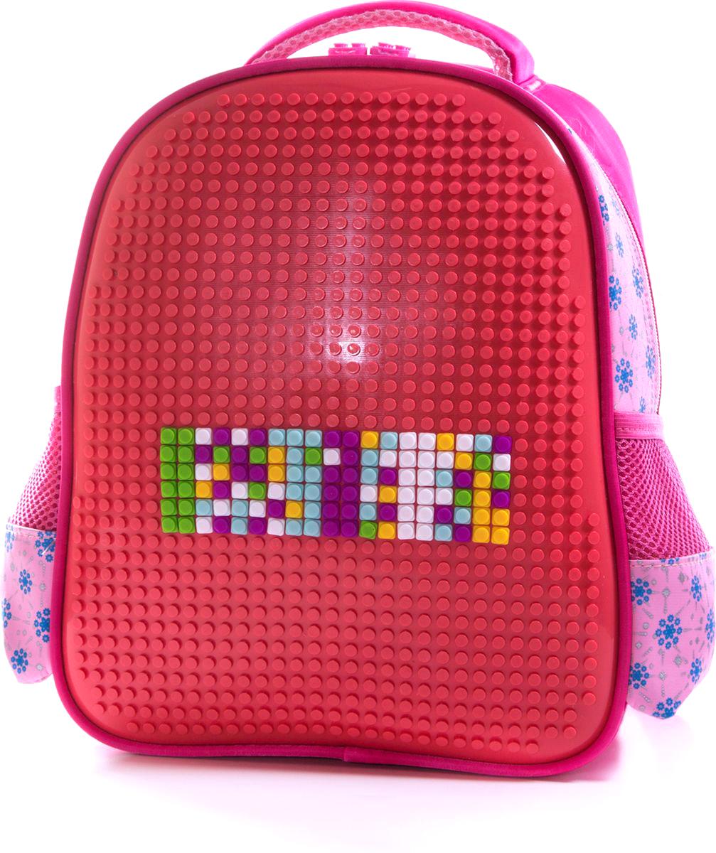 Vittorio Richi Рюкзак цвет красный розовый K07R88802K07R88802Рюкзак Vittorio Richi с набором пикселей в комплекте выполнен из водоотталкивающей и износостойкой ткани.Рюкзак имеет укрепленную спинку, эластичные широкие лямки.Изделие имеет одно основное отделение на застежке-молнии и два открытых кармашка по бокам. Внутри рюкзака находится дополнительный карман для мелочей.