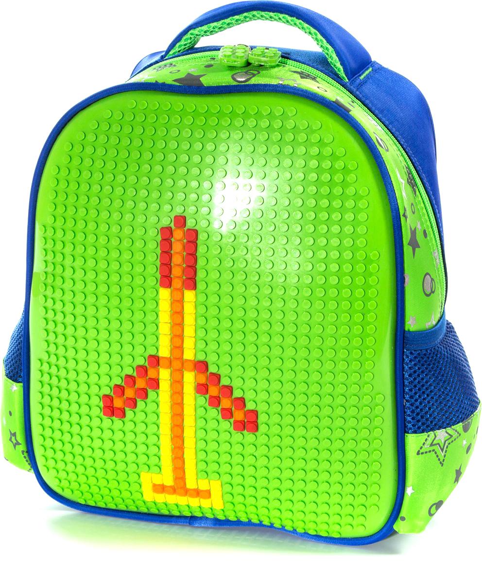 Vittorio Richi Рюкзак цвет синий салатовый K07R88807K07R88807Рюкзак Vittorio Richi с набором пикселей в комплекте выполнен из водоотталкивающей и износостойкой ткани.Рюкзак имеет укрепленную спинку, эластичные широкие лямки. У рюкзака одно основное отделение, дополнительный карман для мелочей внутри и два открытых кармашка по бокам.