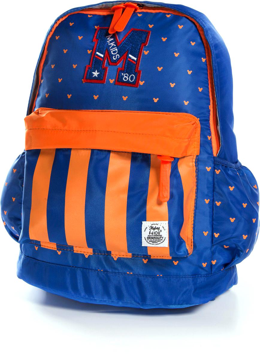 Vittorio Richi Рюкзак цвет синий оранжевый K07R960012K07R960012Рюкзак Vittorio Richi выполнен из водоотталкивающей и износостойкой ткани.Рюкзак имеет укрепленную спинку, эластичные широкие лямки. У рюкзака одно основное отделение на застежке-молнии, дополнительный карман для мелочей внутри, два открытых кармашка по бокам и внешний объемный карман на молнии.