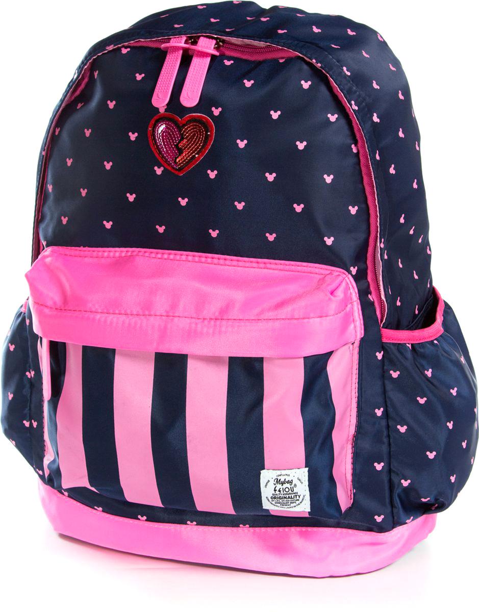 Фото Vittorio Richi Рюкзак для девочки цвет темно-синий, розовый K07R960013