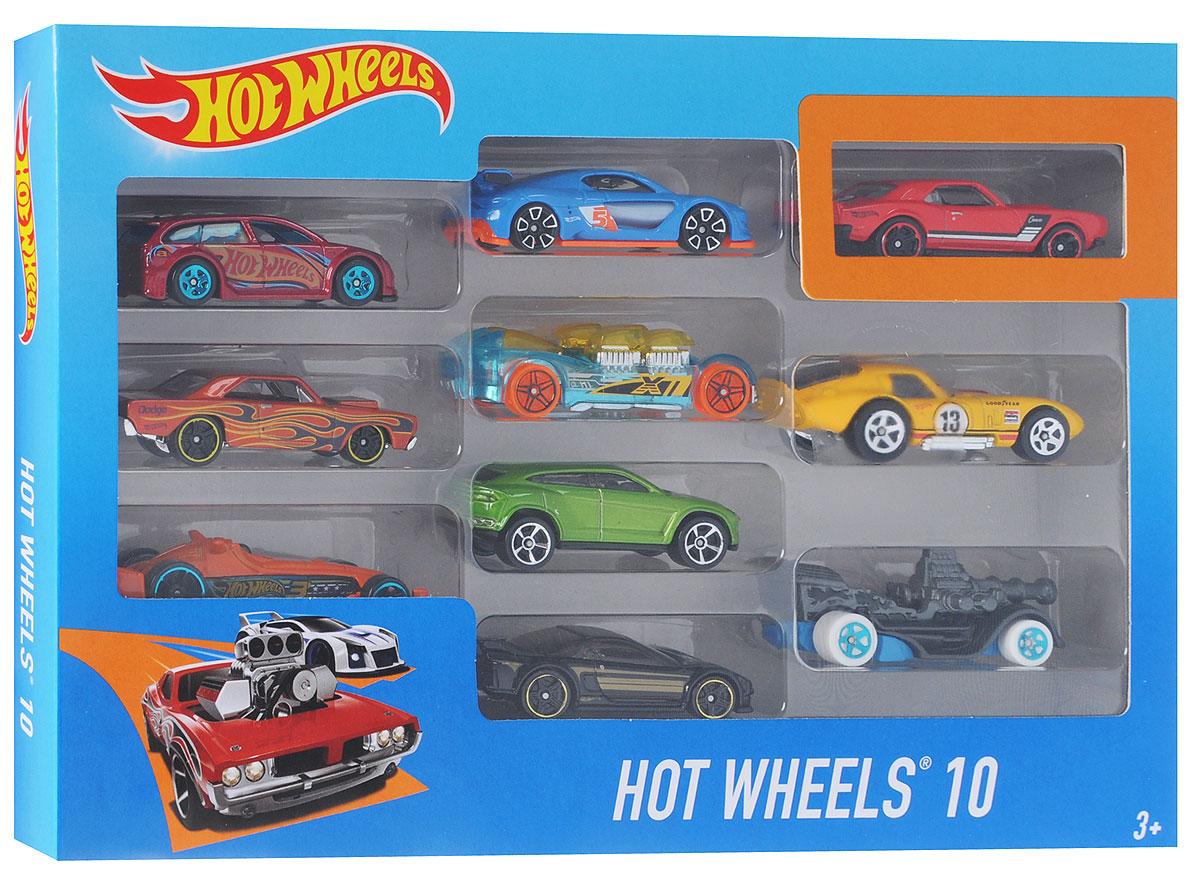 """Подарочный набор машинок """"Hot Wheels"""", 10 шт"""