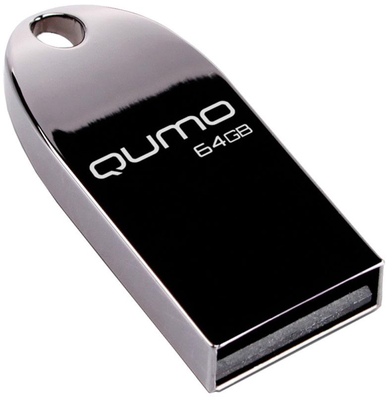 QUMO MetalDrive Dark 64GB USB-накопитель6909723201470Обтекаемый ультрапрочный корпус QUMO MetalDrive из цинкового сплава превосходно защищает вашу информацию. Благодаря использованию COB технологии производства флэш-чипов, накопитель является влагозащищенным.