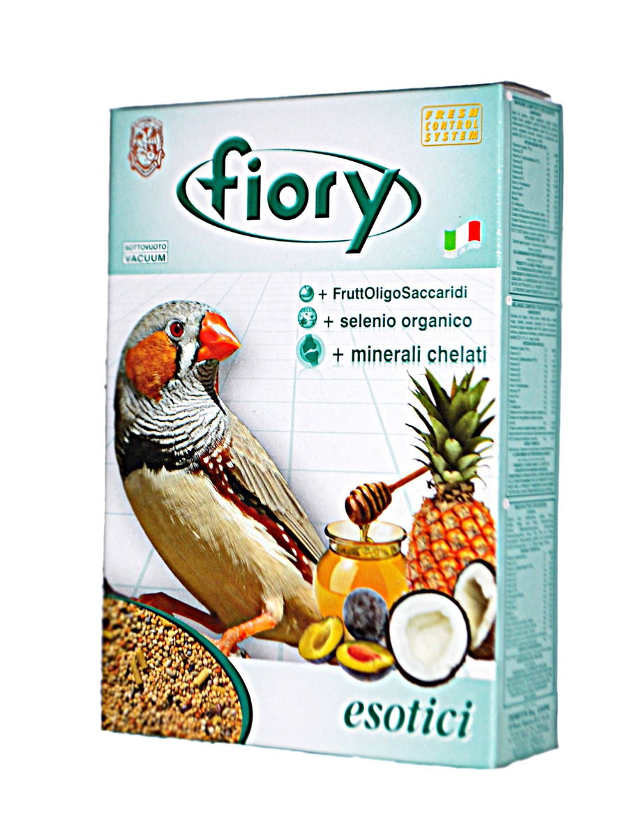 Корм сухой Fiory Esotici, для экзотических птиц, 400 г корм для кроликов fiory karaote 850 г