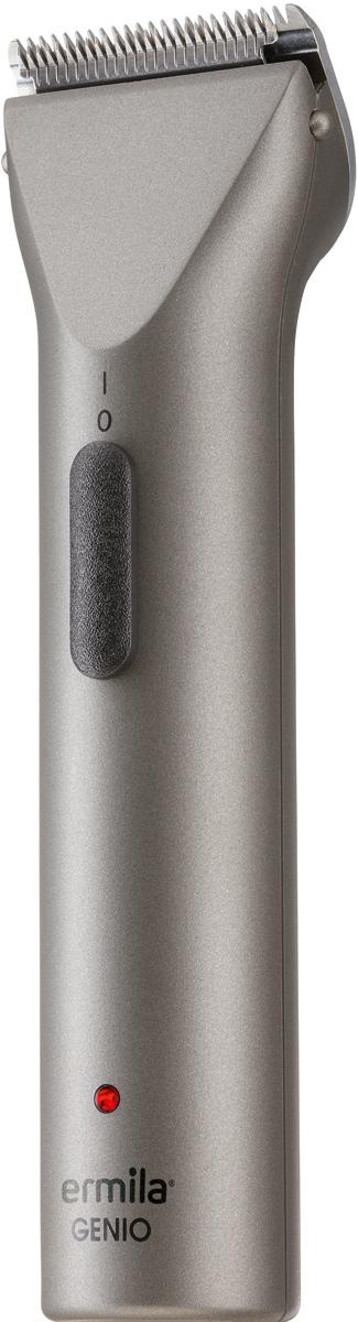 Ermila Genio 1-0038, Gray триммер1-0038Ermila Genio 1 0038 - экстра легкая машинка с комбинированным питанием. Сочетает в себе функции триммера и машинки. Оснащена ножевым блоком Magic Blade из нержавеющей стали. Имеет быструю смену лезвий. После полной зарядки может работать до 100 минут без выключений на одном заряде аккумулятора.