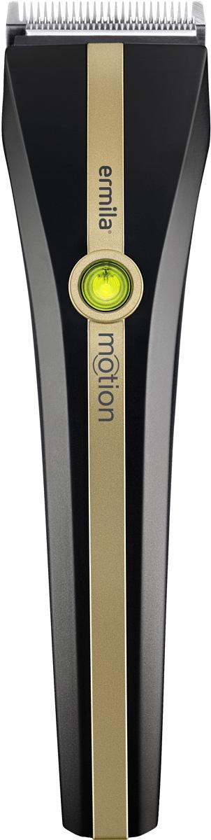 Ermila Motion 1885-0041, Black Gold машинка для стрижки волос1885-0041Ermila Motion 1885-0041 - это стильная и удобная профессиональная машинка с комбинированным питанием, съемным ножевым блоком Magic Blade II и со съемной кольцевой ручкой. Уникальный съемный держатель кольцо ножниц позволяет работать мастеру как привычно ,так и с упором на палец.Magic Blade II - высококачественные профессиональные лезвия сделанные в Германии из нержавеющей стали со встроенной регулировкой длины среза от 0,7 до 3 мм. Закрытая задняя часть лезвий значительно облегчает чистку.45 минутная быстрая зарядка обеспечивает до 90 минут непрерывной работы. Аккумулятор без эффекта памяти.