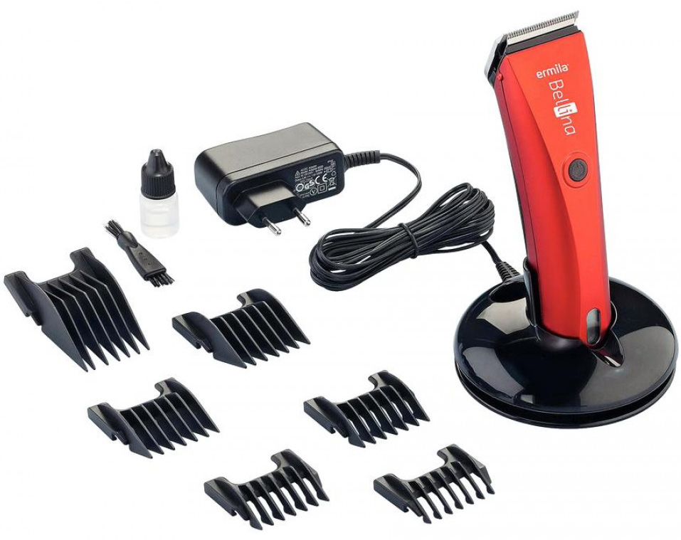 Ermila Bellina & Bella Combo 1870-0028, Red набор машинок для стрижки волос - Машинки для стрижки