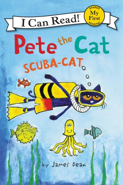 Pete the Cat: Scuba-Cat: Level My First, Зарубежная литература для детей  - купить со скидкой