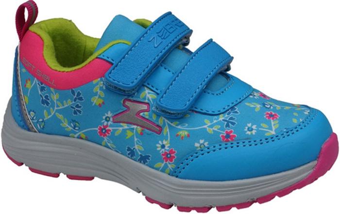 Кроссовки для девочки Зебра, цвет: голубой. 11954-6. Размер 2911954-6Кроссовки для девочки Зебра выполнены из искусственной кожи и дышащего текстиля. Застежки-липучки обеспечивают надежную фиксацию обуви на ноге ребенка. Подкладка выполнена из текстиля, что предотвращает натирание и гарантирует уют. Стелька с поверхностью из натуральной кожи оснащена небольшим супинатором с перфорацией, который обеспечивает правильное положение ноги ребенка при ходьбе и предотвращает плоскостопие. Подошва с рифлением обеспечивает идеальное сцепление с любыми поверхностями.