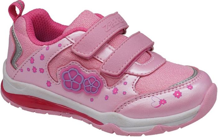Кроссовки для девочки Зебра, цвет: розовый. 11900-9. Размер 2811900-9Кроссовки для девочки Зебра выполнены из искусственной кожи и текстиля. Застежки-липучки обеспечивают надежную фиксацию обуви на ноге ребенка. Подкладка выполнена из текстиля, что предотвращает натирание и гарантирует уют. Стелька с поверхностью из натуральной кожи оснащена небольшим супинатором с перфорацией, который обеспечивает правильное положение ноги ребенка при ходьбе и предотвращает плоскостопие. Подошва с рифлением обеспечивает идеальное сцепление с любыми поверхностями.