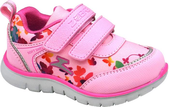Кроссовки для девочки Зебра, цвет: розовый. 11948-9. Размер 2311948-9Кроссовки от фирмы Зебра выполнены из искусственной кожи и текстиля. Застежки-липучки обеспечивают надежную фиксацию обуви на ноге ребенка. Подкладка выполнена из текстиля, что предотвращает натирание и гарантирует уют. Стелька с поверхностью из натуральной кожи оснащена небольшим супинатором с перфорацией, который обеспечивает правильное положение ноги ребенка при ходьбе и предотвращает плоскостопие. Подошва с рифлением обеспечивает идеальное сцепление с любыми поверхностями.