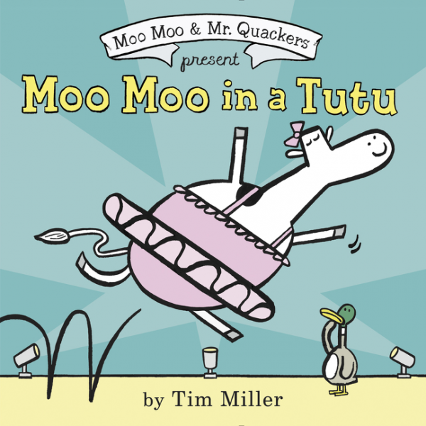 Moo Moo in a Tutu twister family board game that ties you up in knots