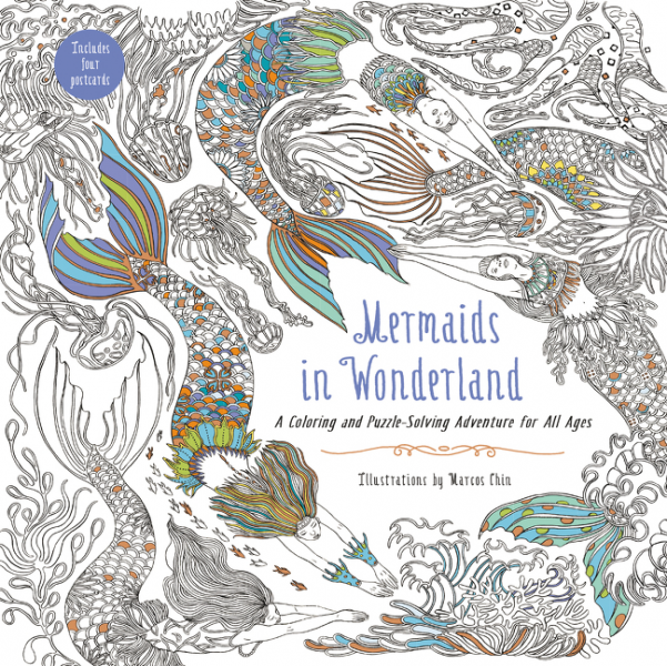 Mermaids in Wonderland color the classics alice in wonderland a curiouser coloring book