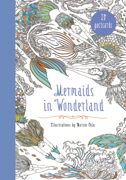 Mermaids in Wonderland 20 Postcards 30pcs in one postcard take a walk on the go monaco ville christmas postcards greeting birthday message cards 10 2x14 2cm