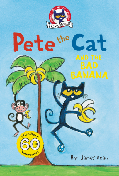 Pete the Cat and the Bad Banana a cat a hat and a piece of string