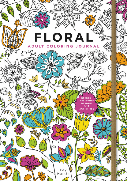 Floral Adult Coloring Journal