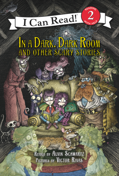 In a Dark, Dark Room and Other Scary Stories (reillustrated) girl in the dark