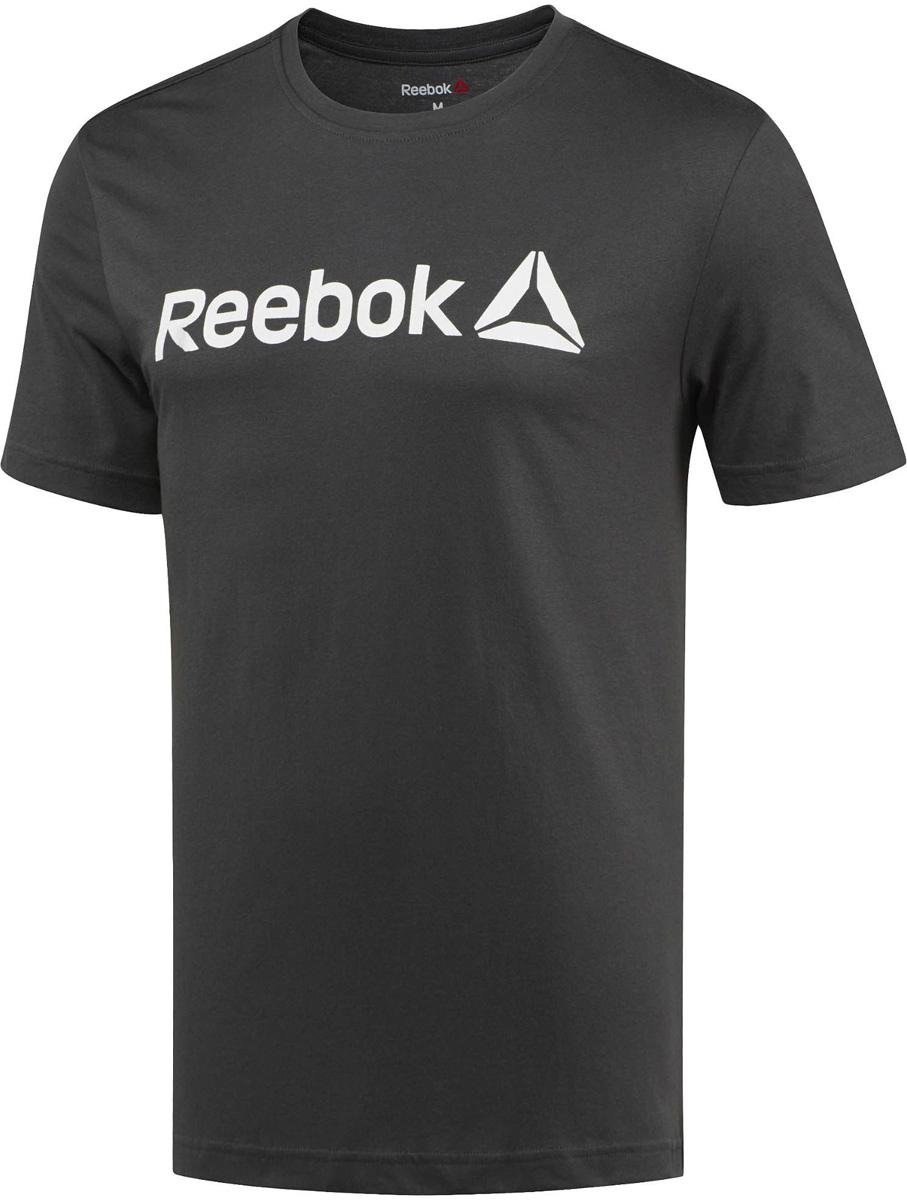 Футболка для фитнеса мужская Reebok Delta Read Tee- Lat, цвет: черный. BR5584. Размер S (44/46)BR5584Мужская футболка Reebok с круглым вырезом и короткими рукавами, выполнена из натурального хлопка. Облегающий крой футболки повторяет каждое движение. Модель дополнена спереди надписью Reebok.