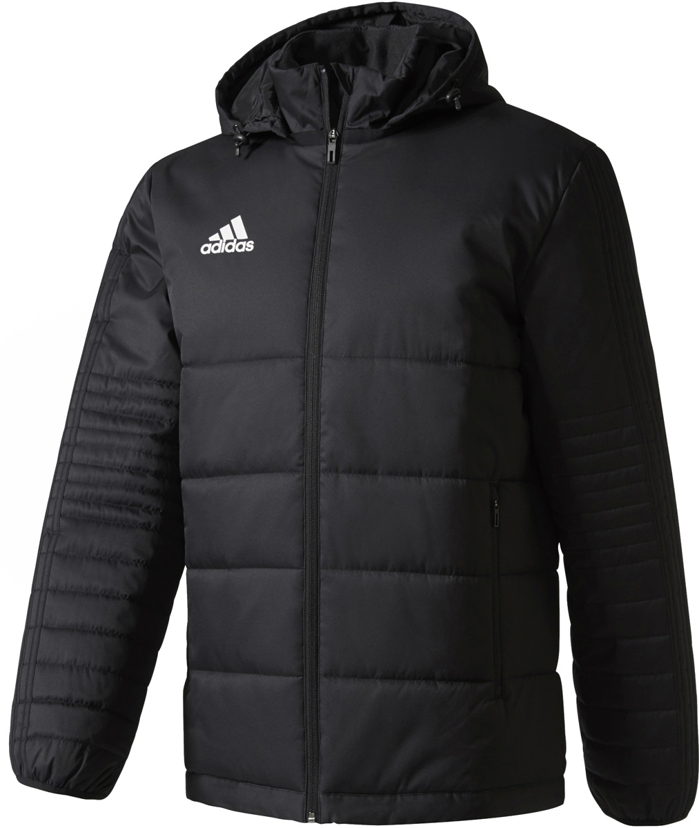 Пуховик мужской Adidas Tiro17 Winter Jk, цвет: черный. BS0042. Размер XXL (60/62) rotosound sm77 jazz bass flatwound strings monel