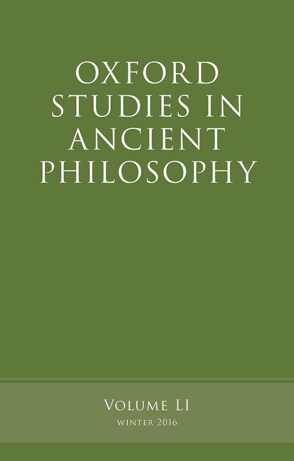 Oxford Studies in Ancient Philosophy, Volume 51 knights of sidonia volume 6