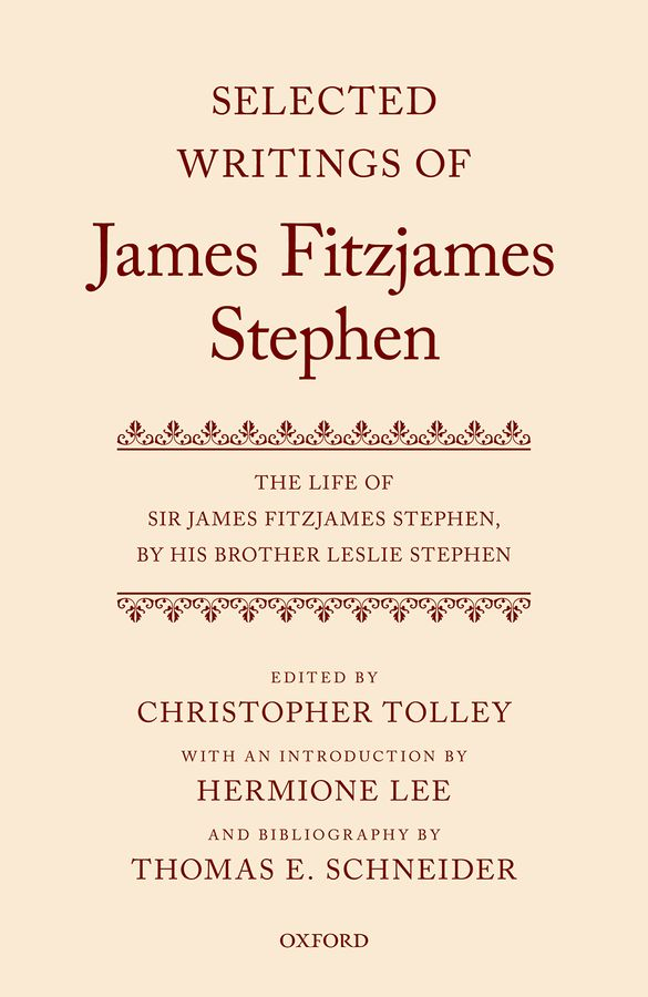 Selected Writings of James Fitzjames Stephen