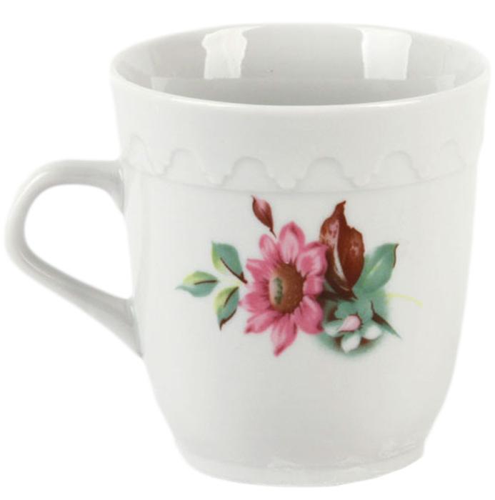 Кружка Фарфор Вербилок Арабеска. Флора. 2432028024320280Красивая фарфоровая кружка способна скрасить любое чаепитие. Посуда из такого материала позволяет сохранить истинный вкус напитка, а также помогает ему дольше оставаться теплым.