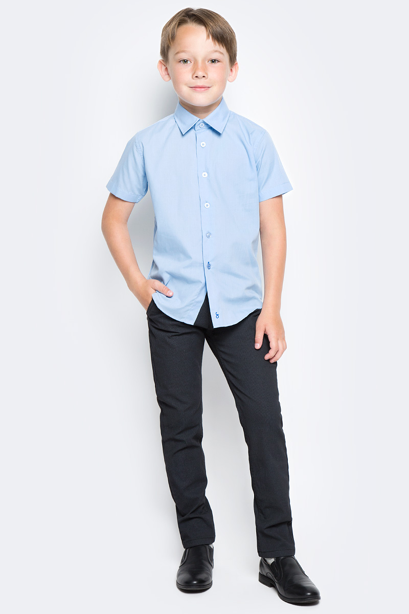Рубашка для мальчика Orby, цвет: небесно-голубой. 70405_OLB_вар.3. Размер 152, 10-11 лет70405_OLB_вар.3Стильная рубашка для мальчика Orby идеально подойдет для школы. Она необычайно мягкая, легкая и приятная на ощупь, не сковывает движения малыша и позволяет коже дышать, не раздражает даже самую нежную и чувствительную кожу ребенка, обеспечивая ему наибольший комфорт. Рубашка прямого кроя с коротким рукавом и классическим воротничком застегивается на пуговицы.Такая рубашка - незаменимая вещь для повседневного гардероба.
