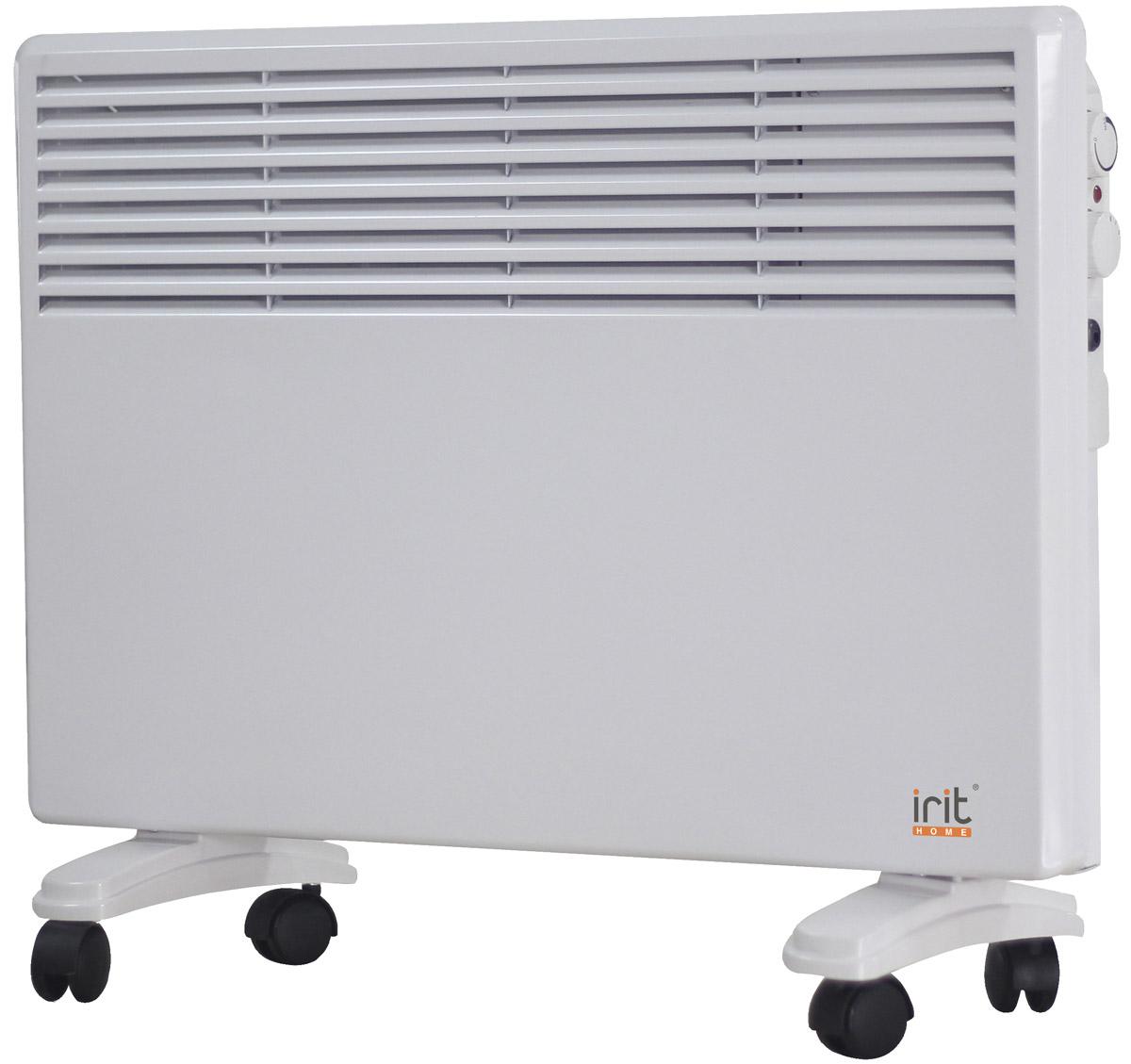 Irit IR-6205 конвекторный обогревательIR-6205Конвектор Irit IR-6205 отлично подойдет для дома и дачи. Устройство работает по принципу естественной конвекции. Холодный воздух, проходя через конвектор и его нагревательный элемент, нагревается и выходит сквозь решетки-жалюзи, незамедлительно начиная обогревать помещение. Имеет возможность настенной и напольной установки.