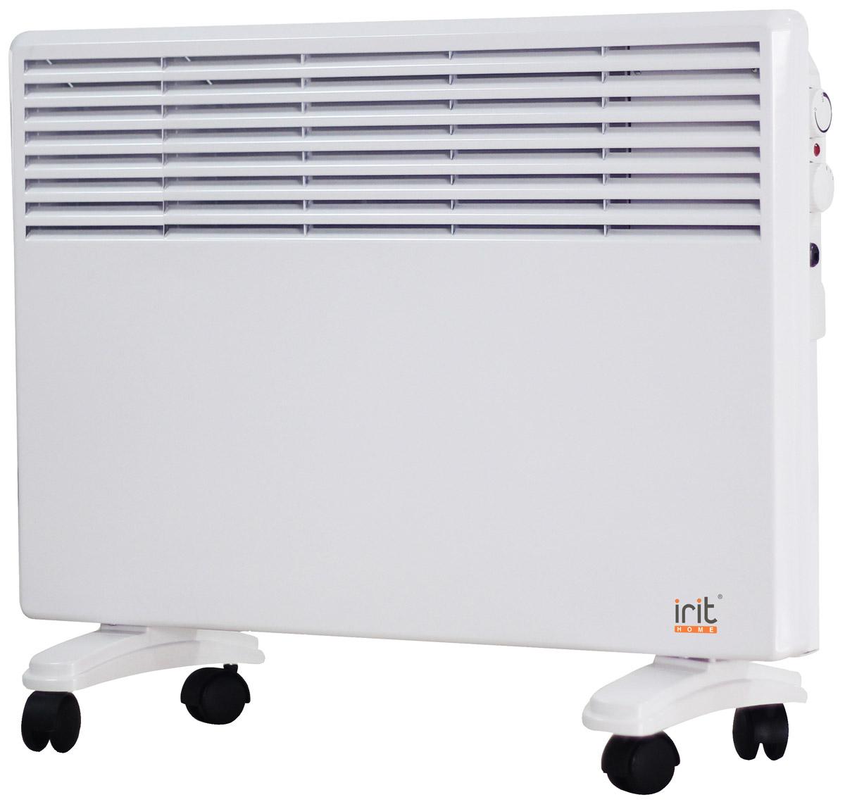 irit IR-6206 конвекторный обогревательIR-6206Конвектор Irit IR-6206 отлично подойдет для дома и дачи. Устройство работает по принципу естественной конвекции. Холодный воздух, проходя через конвектор и его нагревательный элемент, нагревается и выходит сквозь решетки-жалюзи, незамедлительно начиная обогревать помещение. Имеет возможность настенной и напольной установки.