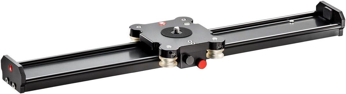 Manfrotto MVS060A, Black штативная головкаMVS060AСлайдер с гарантированной нагрузкой до 10 кг. Реальный ход каретки 46,8 см. Регулировка плавности хода системой контроля трения