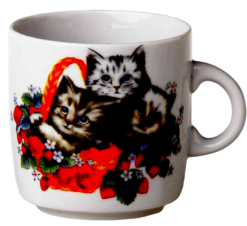 Кружка Фарфор Вербилок Котята. 87109508710950Красивая фарфоровая кружка способна скрасить любое чаепитие. Посуда из такого материала позволяет сохранить истинный вкус напитка, а также помогает ему дольше оставаться теплым.