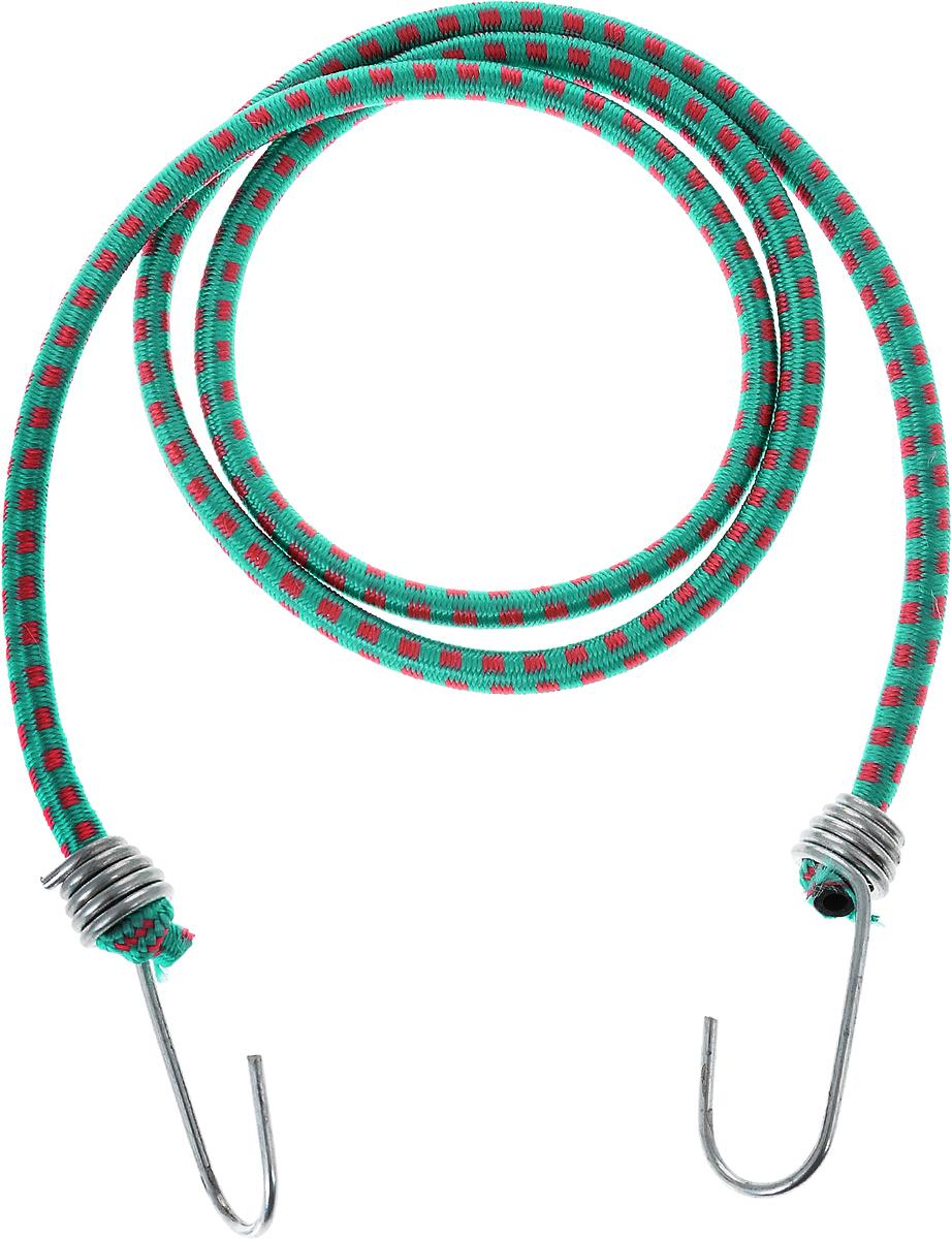 Резинка багажная МастерПроф, с крючками, цвет: зеленый, красный, 0,6 х 110 см резинка багажная