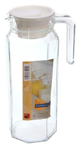 Кувшин Luminarc ОКТАЙМ, 1,1 л75202Бренд Luminarc – это один из лидеров мирового рынка по производству посуды и товаров для дома. В основе процесса изготовления лежит высококачественное сырье, а также строгий контроль качества. Товары для дома Luminarc уважают и ценят во всем мире, а многие эксперты считают данного производителя эталоном совершенства.