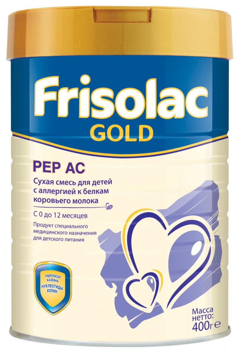Friso Фрисопеп АС Гидролизная смесь с нуклеотидами с 0 месяцев, 400 г496346Фрисопеп АС - лечебная смесь для вскармливания детей с проявлениями пищевой аллергии , с рождения до 12 мес. В составе: • глубокий гидролизат казеина – для диетической коррекции аллергии к белкам коровьего молока, • незаменимые жирные кислоты (омега-3 и омега-6), необходимые для развития мозга и органа зрения, • Нуклеотиды, поддерживающие формирование иммунной системы, • не содержит лактозы, • все ингредиенты для гармоничного роста и развития ребенка с рождения до 12 месяцев, • сбалансированная полноценная смесь, подходит для длительного вскармливания.