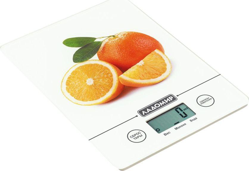 Ладомир НА302 весы кухонныеНА302Кухонные весы Ладомир НА302 - незаменимая вещь для тех, кто ощущает себя на кухне, как в своей стихии. Как соблюсти точность в рецепте до грамма? Использовать высокоточные кухонные весы Ладомир НА302.Ультратонкая платформа изготовлена из прочного закаленного стекла, стильный дизайн поднимает настроение. Весы работают от одного прикосновения. Компактные и точные - весы НА302 - то, что позволит вам держать себя в форме, ведь благодаря функции тарокомпенсации можно взвешивать еду порциями в любой таре.