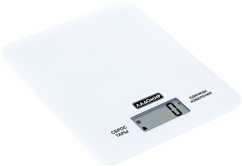 Ладомир НА303 весы кухонные, цвет белыйНА303 арт. 9Проверенная точность, узнаваемая надежность!Весы Ладомир НА303 - то, чего так не хватало на вашей кухне. Стильный дизайн, крепкий и ультратонкий корпус из закаленного стекла. Благодаря сенсорному управлению использовать весы легко и удобно.