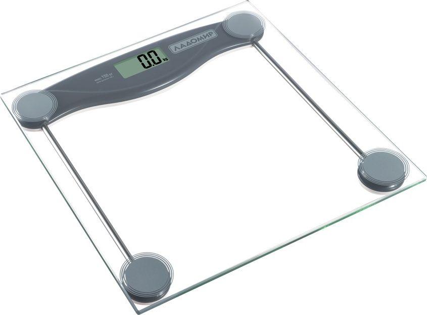 Ладомир НА105 весы напольныеНА105Контролируйте свой вес ежедневно вместе с электронными весами от Ладомир. Эту модель отличает изысканная простота: простое управление: встаньте на весы и результат отобразится на ЖК-дисплее уже через пару секунд; простой надежный дизайн: платформа выполнена из закаленного стекла, удобно хранить, не занимает много места.Весы работают от батарейки типа СR2032.