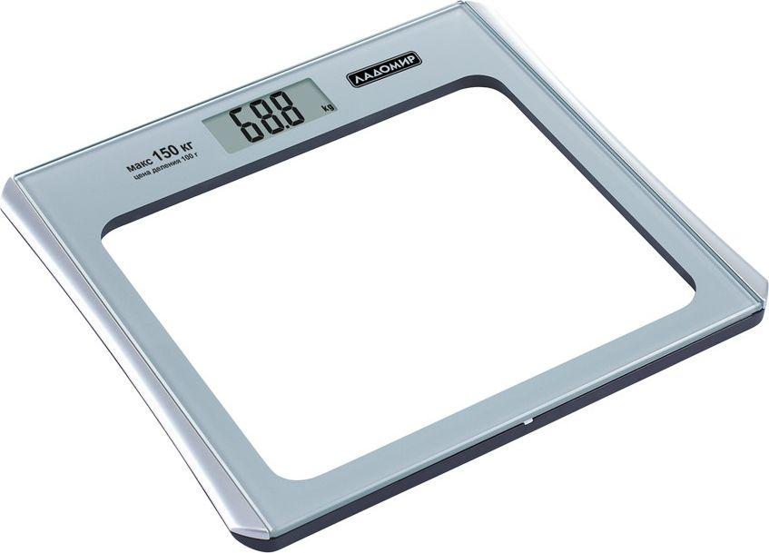 Ладомир НА106 весы напольныеНА106Напольные весы Ладомир НА106 - простой и комфортный способ следить за изменениями веса. Хотите знать, подействовала ли диета? Эффективно ли набирает вес растущий ребенок? Получите ответ всего за пару секунд, воспользовавшись весами НА106.Платформа из тонкого закаленного стекла выдерживает нагрузку до 150 кг, а высокая точность измерения гарантирует верный результат.Весы работают от 3 батареек типа ААА.