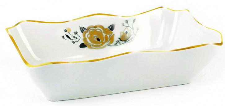 Лоток для заливного Фарфор Вербилок Ветка. 2503233025032330Удобным и красивым элементом кухонной утвари станет этот фарфоровый лоток для заливного. Он станет прекрасным подарком рачительной хозяйке, предпочитающей удобные и красивые предметы сервировки, станет приятным подарком подруге, украсит собой семейную коллекцию посуды.