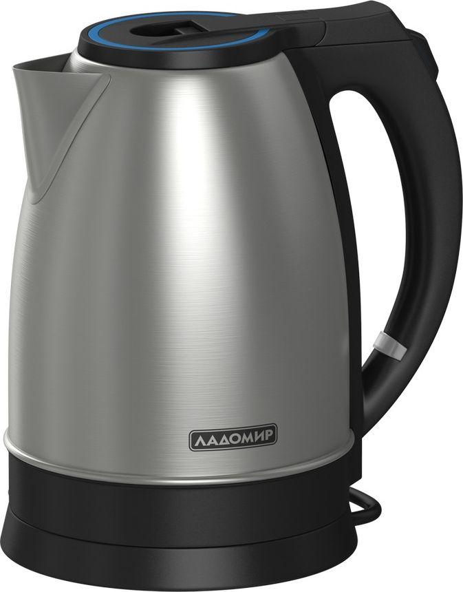Ладомир АА201 чайник электрическийАА201Оригинальный в своей строгости дизайна и постоянный в своей надежности чайник Ладомир АА201 отлично впишется в интерьер вашей кухни. Чайник изготовлен из нержавеющей стали и пищевого ударопрочного пластика.Чайник оборудован тройной системой защиты: прибор автоматически отключается при закипании, не будет кипятить воду, если уровень ниже минимального, и выключится при перегреве.