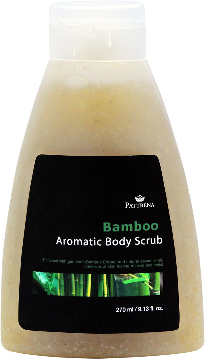 Pattrena Ароматный скраб для тела тайский Бамбук, 270 мл60851Скраб для тела с натуральными питательными ингредиентами – скорлупа грецкого ореха, удаляет омертвевшие клетки, придавая дополнительное питание коже. Скраб обогащен экстрактом Бамбука, придает ощущение свежести на длительное время. Смягчает кожу. Несет в себе антисептические свойства. Обладает уникальным пробуждающим ароматом.
